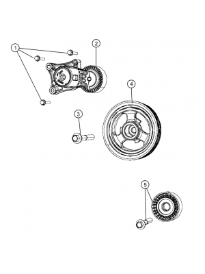 Pulley for Renegades  Petrol 1.6L ETorque Engine