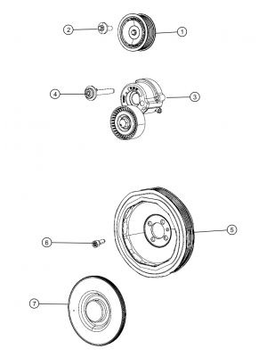 Pulley for Renegades  Diesel 1.6L Turbo