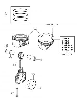 Pistons and rings for Renegades  Diesel 2.0L Turbo