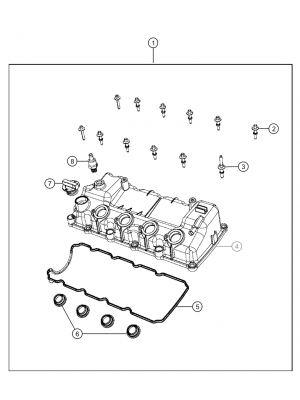 Cylinder head cover for Renegades  Petrol 1.6L ETorque Engine
